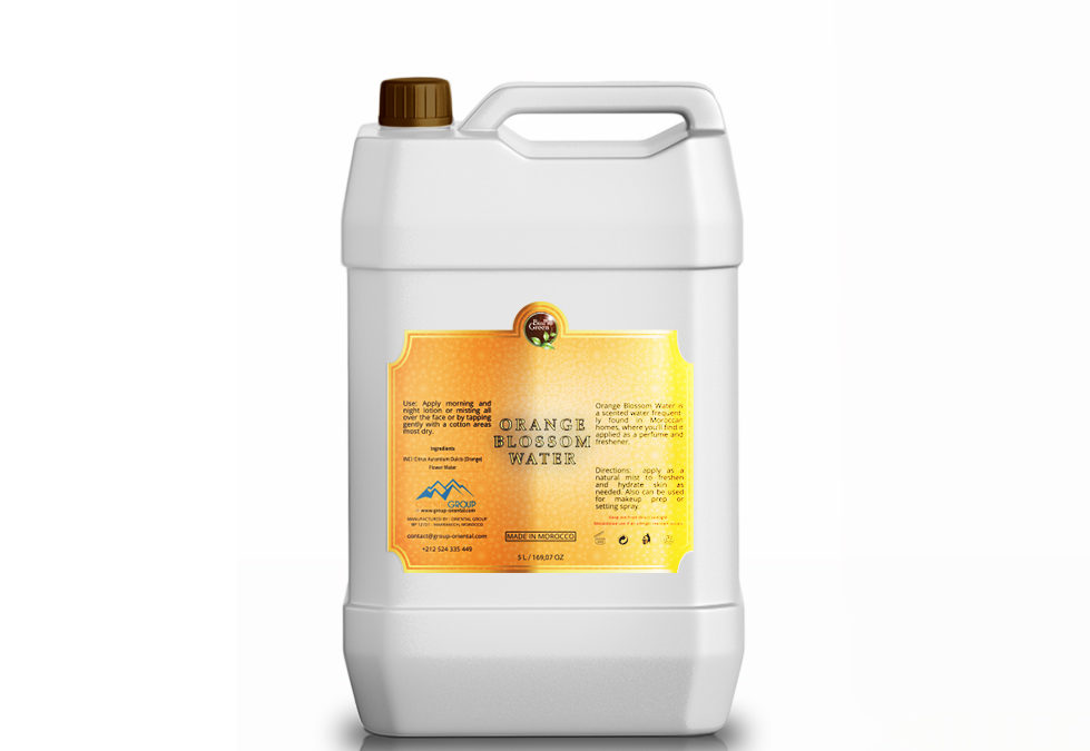 Orange Blossom Water made in Morocco made by the best Moroccan BioProgreen Argan wholesaler